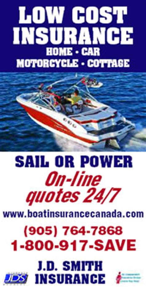 Boat Insurance Quotes Ontario by Boat Insurance Canada Quote Availability