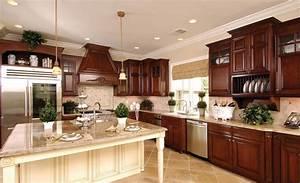 Dark Kitchen Cabinets White Island #3418 home and garden