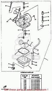 Yamaha Et340 Tf Enticer 1982  1983 Carburetor Et340tf  Tg