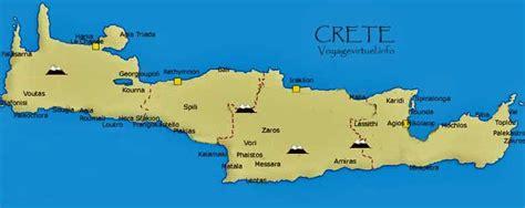 mapa de la creta fotografias de la creta grecia