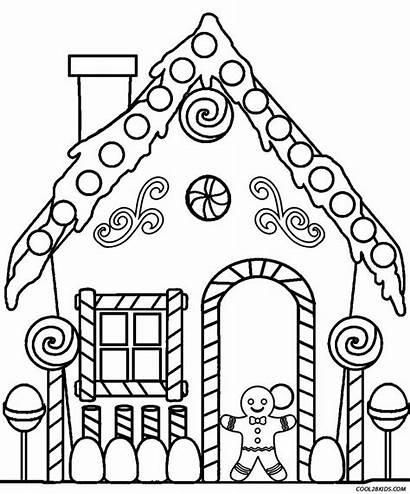 Coloring Gingerbread Printable Cool2bkids