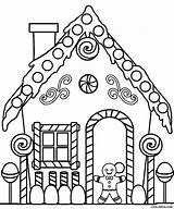 Coloring Pages Gingerbread Printable sketch template