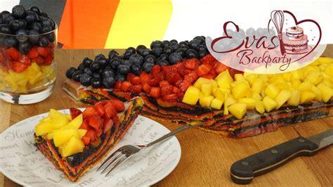 Deutschlandkuchen Für Em  Flaggenkuchen Obstkuchen