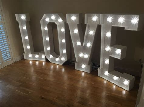 Large Light Up Letters by Hire 4ft Led Lights Large Light Up Letters
