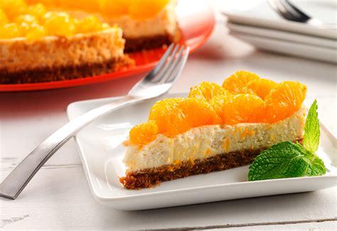 lemongrass cheesecake  mandarin orange garnish eat
