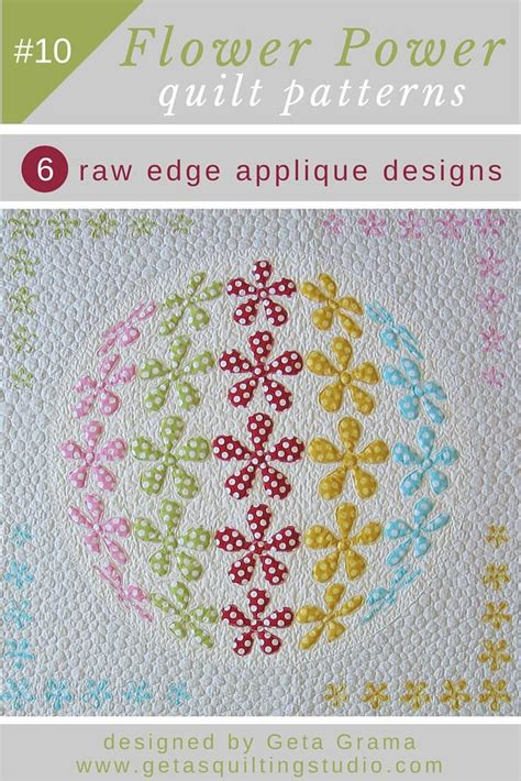 Quilting Applique Patterns by 3d Flower Applique Quilt Pattern 6 Designs Are Included