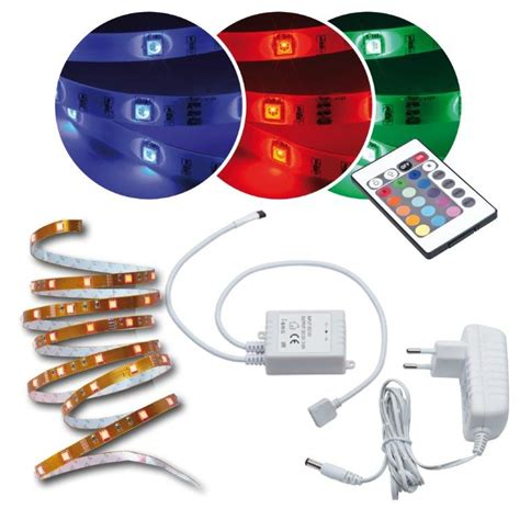 led band für aussen led lichtband innen au 223 en 5m rgb licht band fernbedienung multicolor smd ip65 ebay