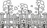 Garden Coloring Jardim Fence Cercado Flower Colorir Template Flores Desenho Sheets Adult Gardening Stampare Farm Tudodesenhos Templates Secret Fiorellini Mamii sketch template
