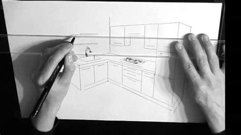 dessin cuisine en perspective