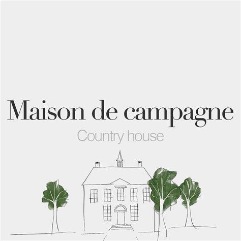 French Words — Maison de campagne (feminine word ...