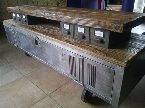 canape rochebobois meuble tv industriel bois et métal unique meubles et