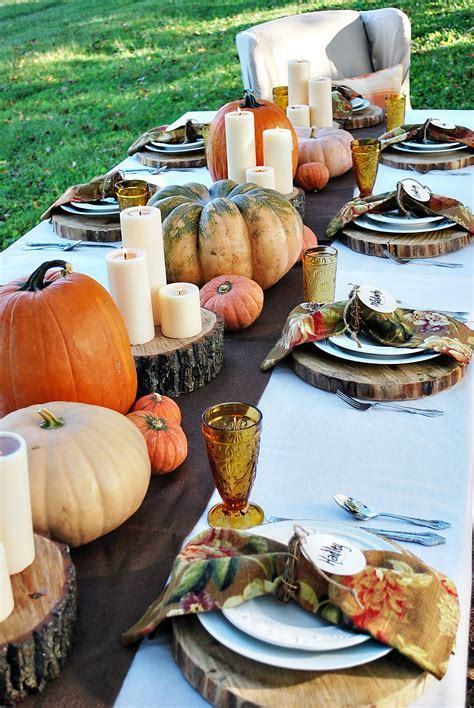 outdoor thanksgiving decorations 15 outdoor thanksgiving table settings for dining alfresco