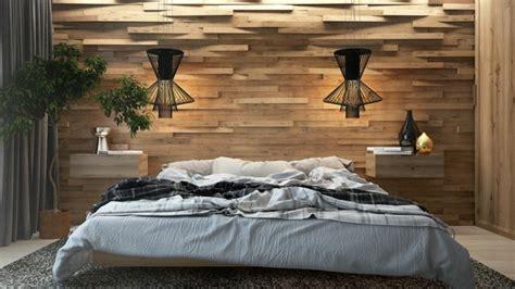 chambre bois mur en bois pour une déco originale de chambre à coucher