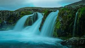 Iceland, Rock, Stream, Waterfall, 4k, Hd, Nature, Wallpapers