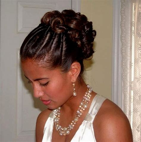 15 best collection of african american updo wedding hairstyles