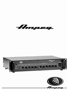 Ampeg Musical Instrument Amplifier B5r User Guide