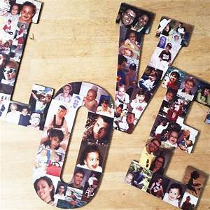 custom photo collage letter photo collage wood letters With wooden letter photo collage