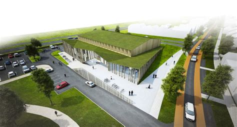 het anker is a green roofed community center planned for the netherlands