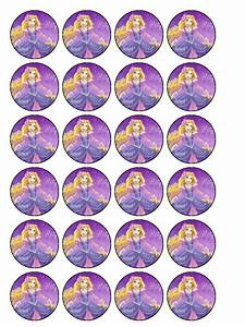 Princess Rapunzel Cupcake Topper Pack of 30