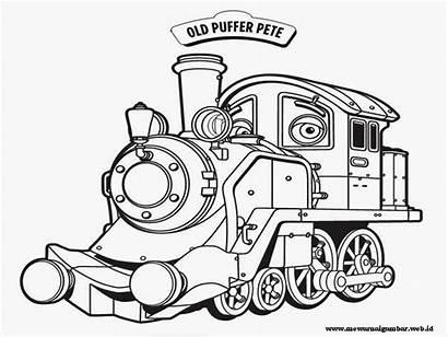 Mewarnai Gambar Kereta Api Chuggington Anak Untuk