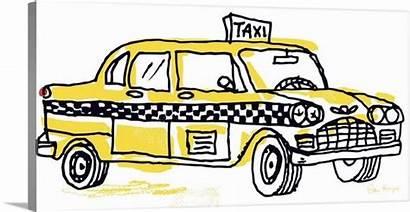 Taxi York Drawing Cab Greatbigcanvas Pen