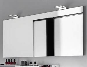 best lampe salle de bain miroir photos amazing house With armoire miroir sdb