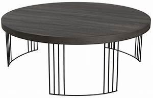 Table Basse Ronde Bois Metal : table basse ronde en bois ~ Teatrodelosmanantiales.com Idées de Décoration
