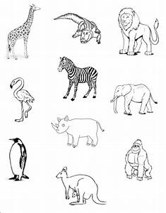 clipart black and white zoo - Clipground
