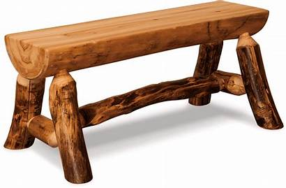 Log Half Bench Aspen Furniture Rustic Fireside