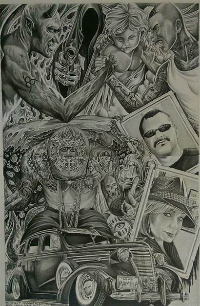 Lowrider Drawings Arte Wallpapers Chicano Prison Low