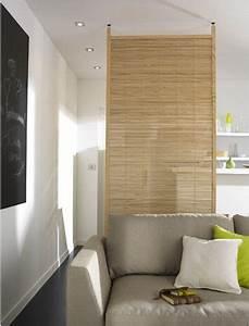 Fabriquer Une Cloison Amovible : cloison amovible separation salon cuisine en bois ~ Melissatoandfro.com Idées de Décoration