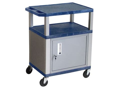 Colored Shelf Tuffy Cart With Cabinet And Electric 34