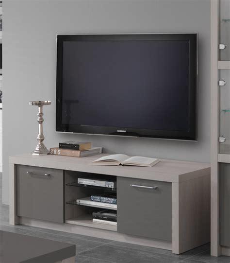 tv cuisine meuble tv plasma fano chene blanchi laque gris chene