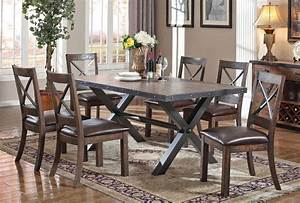 Voyager industrial style dining room furniture for Industrial style dining room tables