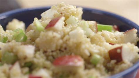 salade de quinoa pommes et gouda cuisine futée parents