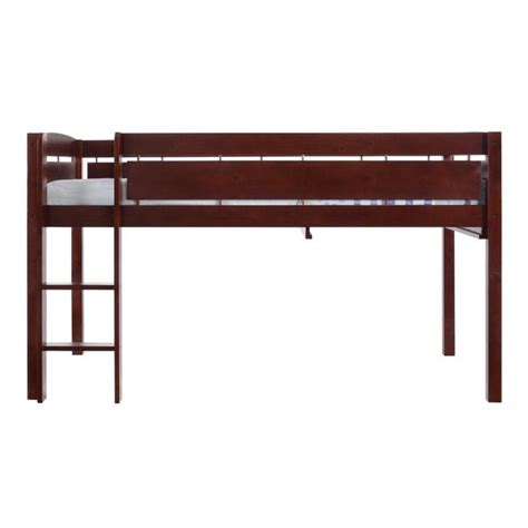 canwood whistler junior loft bed canwood whistler junior wood loft bunk bed in cherry 2131 4