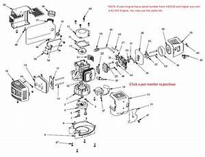 Earthquake E43 R2 Repair Parts