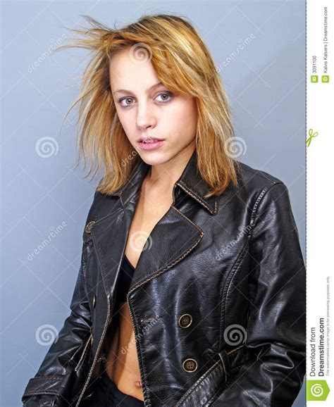 Women In Leather Stock Photo Image: 3091100