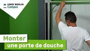 Comment Monter Une Porte Coulissante : comment monter une porte de douche leroy merlin youtube ~ Melissatoandfro.com Idées de Décoration