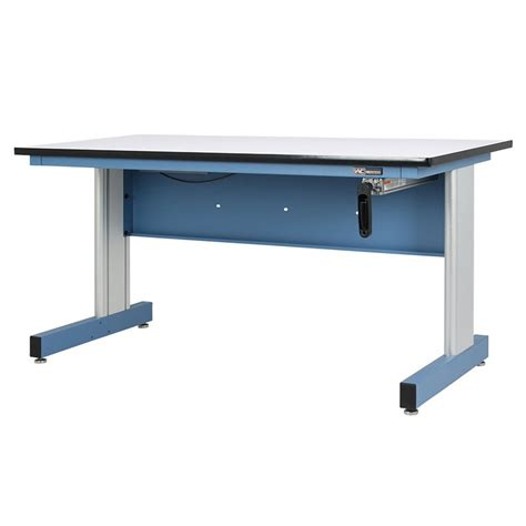 hand crank height adjustable industrial workbench