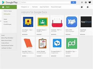 google docs und google tabellen fur android nun mit add With google docs add ons store