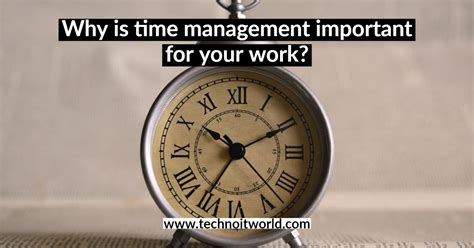 time management important   work