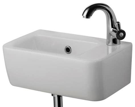 Alfi Brand Ab Small White Wall Mounted Ceramic Bathroom