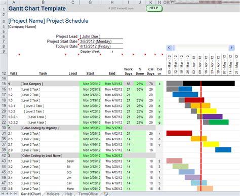 gantt chart template pro  excel