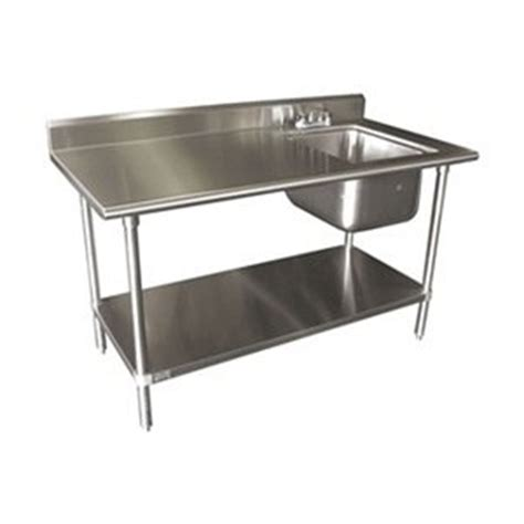 kitchen sink table single work table sink with faucet width 60 2931