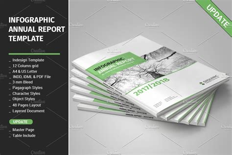 infographic annual report template brochure templates
