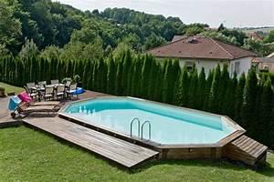 Tour De Piscine Bois : installation piscine bois hors sol aquamag ~ Premium-room.com Idées de Décoration