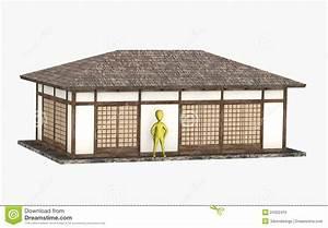Maison Japonaise Dessin : personnage de dessin anim devant maison japonaise photo stock image 24352410 ~ Melissatoandfro.com Idées de Décoration