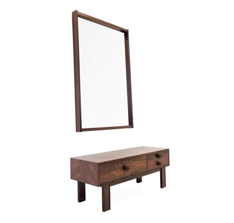 hallway bureau console and mirror in rosewood