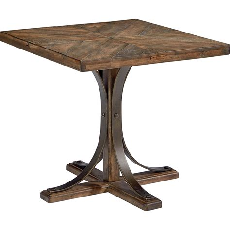 Magnolia Home Traditional End Table With Metal Base